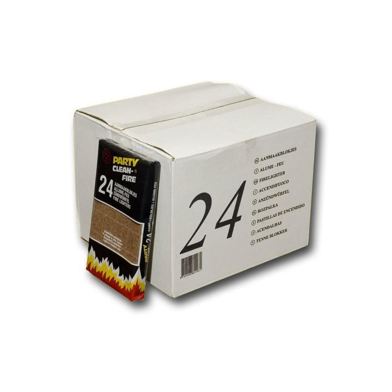 achetez carton de 24 bo tes de allume feux. Black Bedroom Furniture Sets. Home Design Ideas